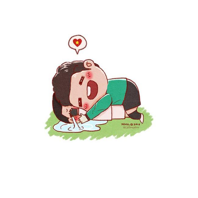 Đã bao giờ bạn thấy HLV Park Hang-seo, Lương Xuân Trường dễ thương đến thế này chưa? - Ảnh 4.