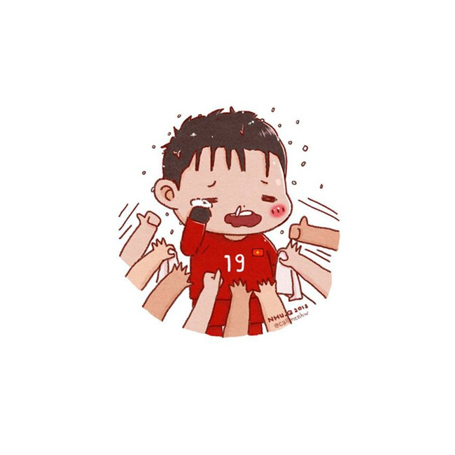 Đã bao giờ bạn thấy HLV Park Hang-seo, Lương Xuân Trường dễ thương đến thế này chưa? - Ảnh 5.