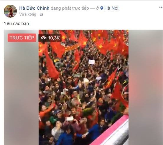 Cong Phuong, Duy Manh cung U23 Viet Nam lien tuc check-in Facebook hinh anh 1