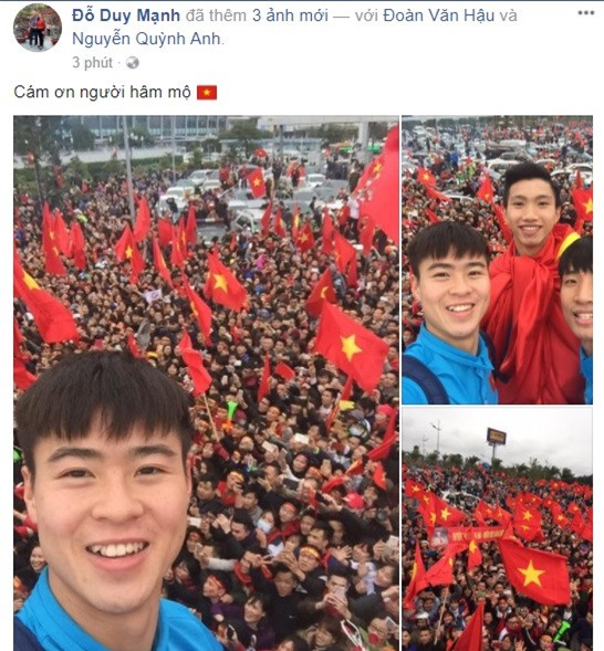Cong Phuong, Duy Manh cung U23 Viet Nam lien tuc check-in Facebook hinh anh 2
