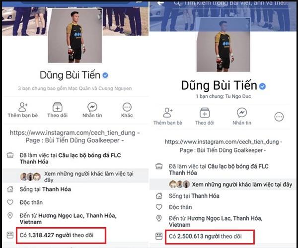 Chỉ sau 3 ngày, thủ môn Bùi Tiến Dũng trở thành Facebooker đình đám nhất Việt Nam: 2,5 triệu lượt follow-2