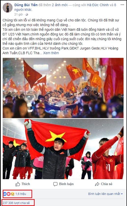 Chỉ sau 3 ngày, thủ môn Bùi Tiến Dũng trở thành Facebooker đình đám nhất Việt Nam: 2,5 triệu lượt follow-3