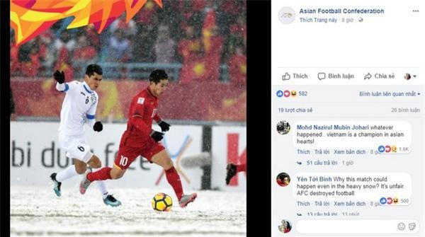 Nhiều bình luận bày tỏ sự thán phục và tôn trọng được cư dân mạng trên thế giới gửi đến đội tuyển U23 Việt Nam