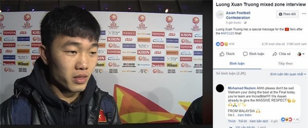 Đội trưởng Lương Xuân Trường là một trong những cầu thủ được nhiều cư dân mạng yêu thích nhất của U23 Việt Nam