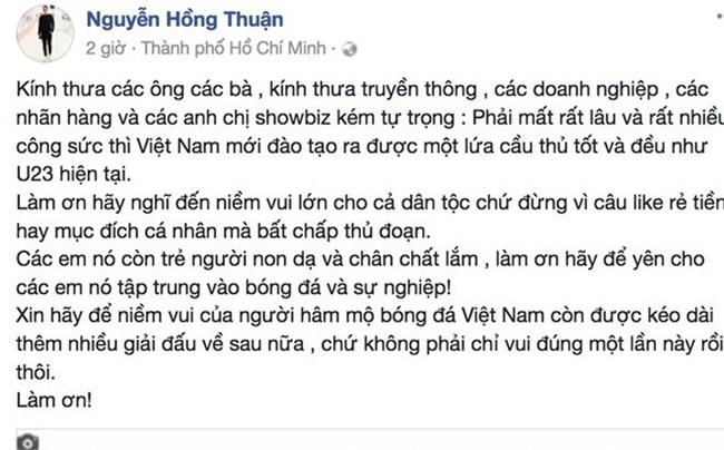 Sao Viet, du luan phan no voi clip nguoi mau mac bikini don U23 VN hinh anh 1