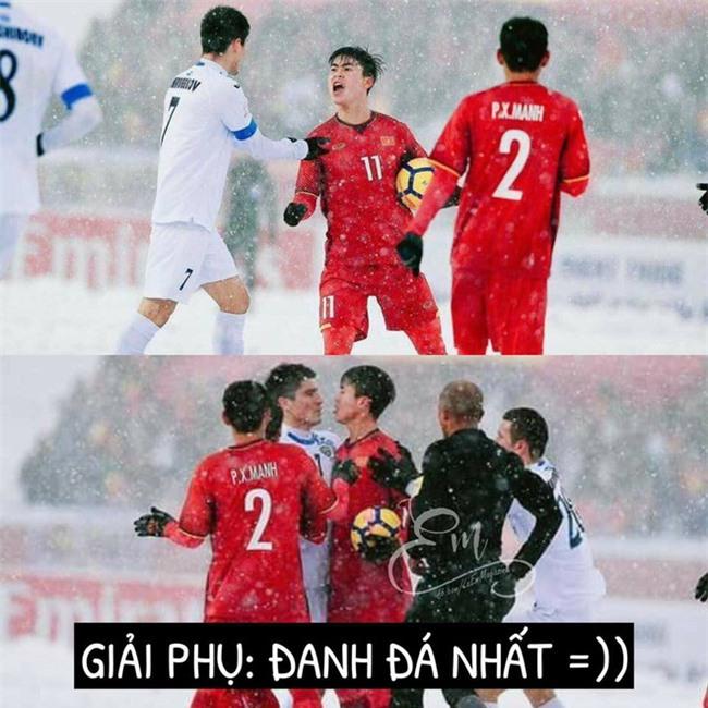 Chùm ảnh hài hước: Dân mạng tự trao các giải phụ đặc biệt cho U23 Việt Nam  - Ảnh 5.