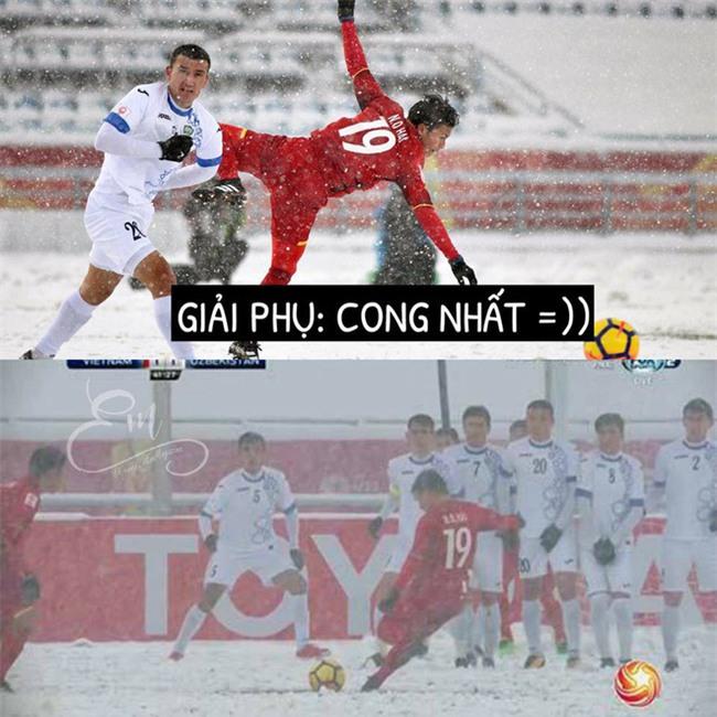Chùm ảnh hài hước: Dân mạng tự trao các giải phụ đặc biệt cho U23 Việt Nam  - Ảnh 6.