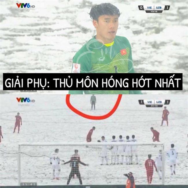 Chùm ảnh hài hước: Dân mạng tự trao các giải phụ đặc biệt cho U23 Việt Nam  - Ảnh 7.