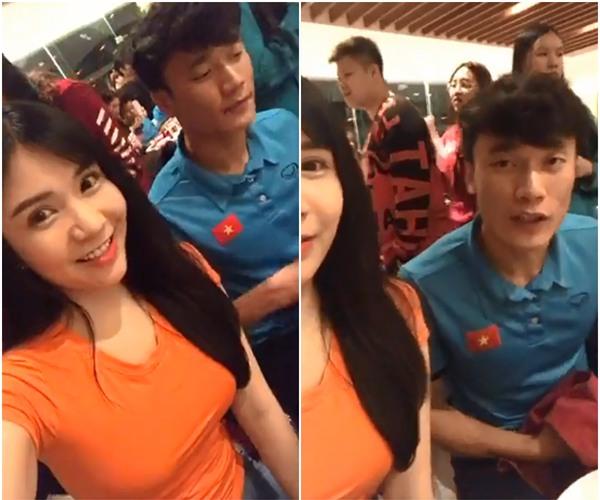 Livestream cùng cầu thủ quốc dân Bùi Tiến Dũng, Thanh Bi trở thành cô gái bị chị em ghen tỵ nhất đêm qua-1