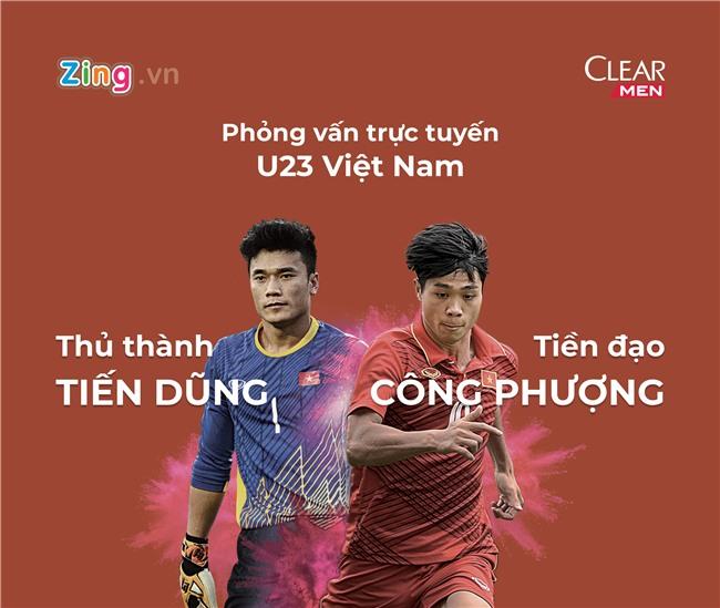 Giao lưu trực tuyến U23 Việt Nam: Tiến Dũng - Công Phượng
