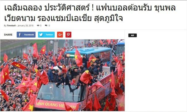 Netizen và truyền thông Thái Lan sững sờ: Thua vẫn yêu, người hâm mộ Việt Nam tổ chức ăn mừng dù giành ngôi Á quân U23 châu Á - Ảnh 3.