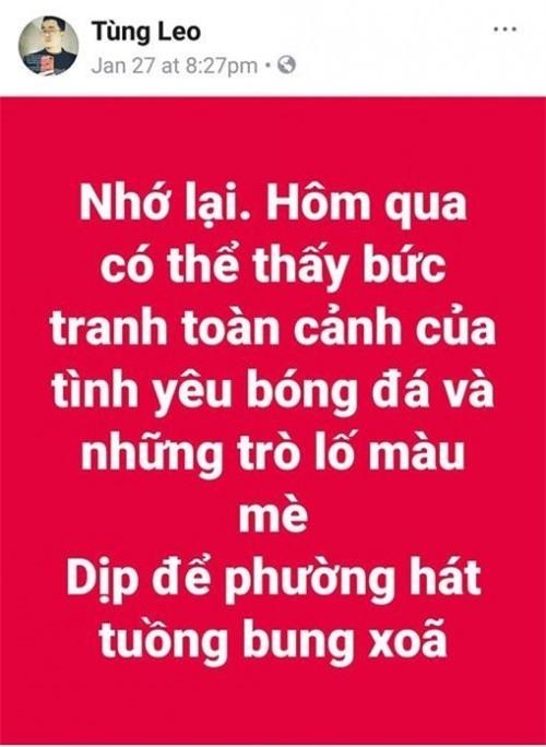 Trạng thái của MC Tùng Leo được anh viết trước đó. - Tin sao Viet - Tin tuc sao Viet - Scandal sao Viet - Tin tuc cua Sao - Tin cua Sao
