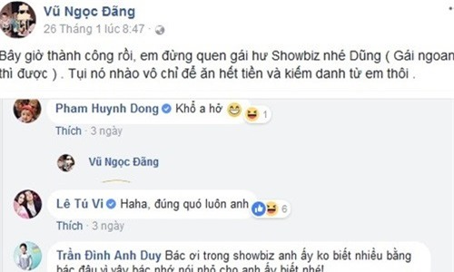 Sao Viet nhac nho Bui Tien Dung va U23 Viet Nam 'dung yeu gai showbiz' hinh anh 1