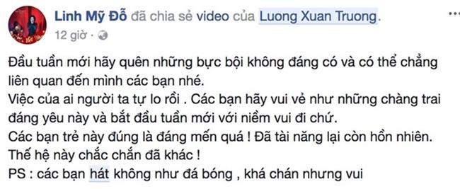 Diva My Linh hai huoc che clip Xuan Truong, Van Thanh hat ngau hung hinh anh 1