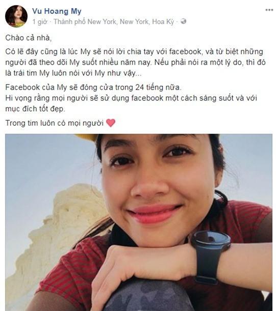 Á hậu Hoàng My chia sẻ trạng thái quyết định đóng facebook sau thời gian mê mẩn. - Tin sao Viet - Tin tuc sao Viet - Scandal sao Viet - Tin tuc cua Sao - Tin cua Sao