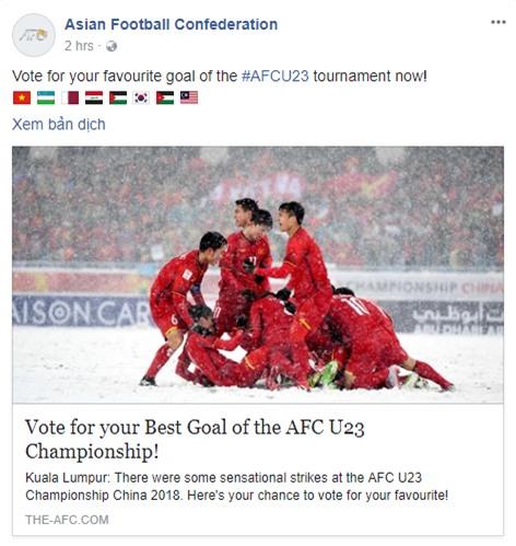 U23 Uzbekistan vô địch nhưng U23 Việt Nam mới được fanpage AFC chọn để ảnh đại diện link bàn thắng đẹp nhất - Ảnh 1.