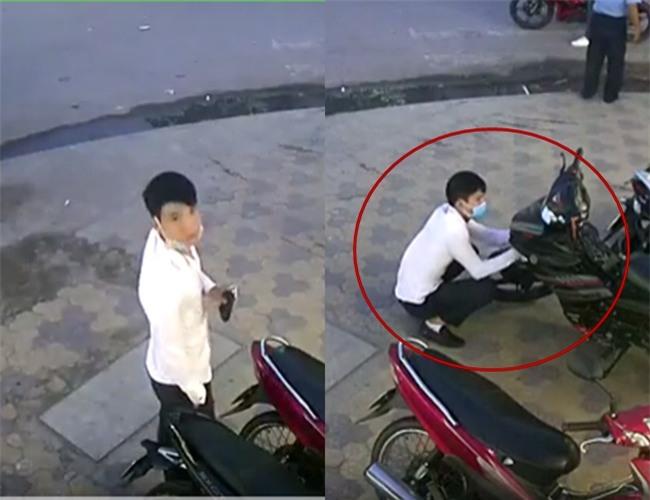 Clip: Nam thanh niên dàn cảnh trộm xe táo tợn ngay trước mặt bảo vệ cửa hàng tiện lợi ở Sài Gòn - Ảnh 2.