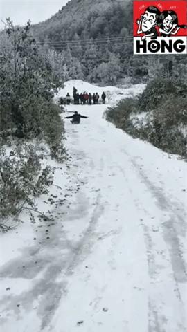 Clip: Tuyết phủ trắng Sa Pa đẹp như Hàn Quốc, nhiều bạn trẻ thích thú chơi trượt tuyết - Ảnh 3.