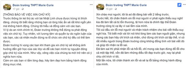 Truong Marie Curie noi gi ve keu goi khong ky ung ho be Nhat Linh? hinh anh 2