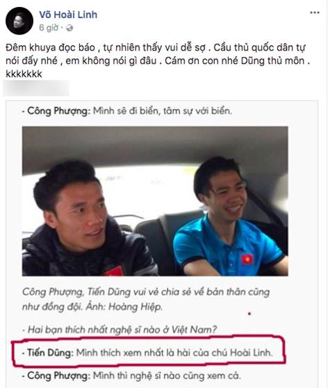 Hoài Linh nói gì khi được thủ môn Tiến Dũng thổ lộ thích xem hài của mình nhất? - Ảnh 1.