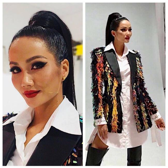 Để tóc dài trang điểm đậm đã không hợp, Hoa hậu HHen Niê còn thua Tóc Tiên trong khoản diện đồ khi mặc chung đồ - Ảnh 2.