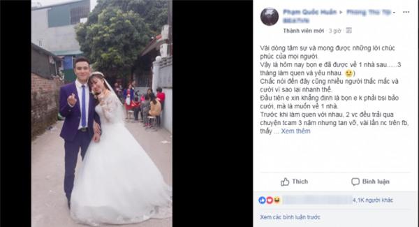 Cặp đôi quyết định lấy nhau sau 3 tháng quen rồi về yêu tiếp gây sốt cộng đồng mạng - Ảnh 2.