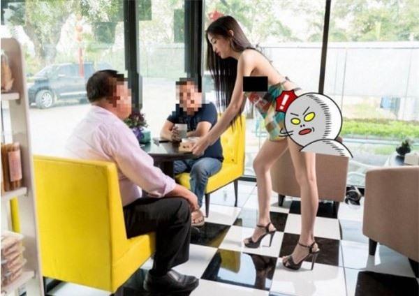 Cả gan thuê hot girl ăn mặc hở hang phục vụ khách hàng, quán cà phê Thái Lan bị cư dân mạng ném đá không thương tiếc - Ảnh 1.