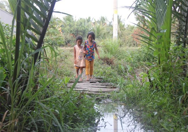 Xót cảnh 3 đứa trẻ không rành tiếng Việt theo bà cố đi lượm trái bàng về bán lấy tiền nuôi bà ngoại khùng - Ảnh 10.