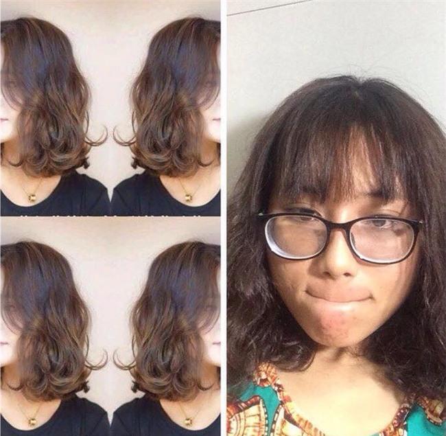 Đi làm tóc chơi Tết, cô gái khóc ròng vì ảnh mẫu 1 đằng, tóc làm ra 1 nẻo - Ảnh 1.