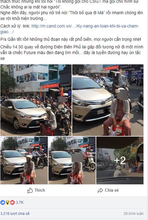 Dàn cảnh va quệt hai mẹ con bà lão chặn xe ô tô bắt vạ tài xế - Ảnh 1.