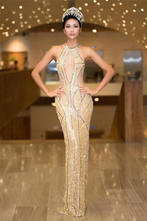 H'Hen Niê xuất hiện tựa 'nữ thần' với váy áo xuyên thấu gợi cảm tại sự kiện - Ảnh 2.