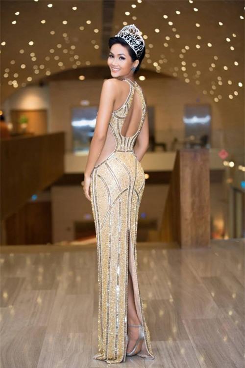 H'Hen Niê xuất hiện tựa 'nữ thần' với váy áo xuyên thấu gợi cảm tại sự kiện - Ảnh 3.