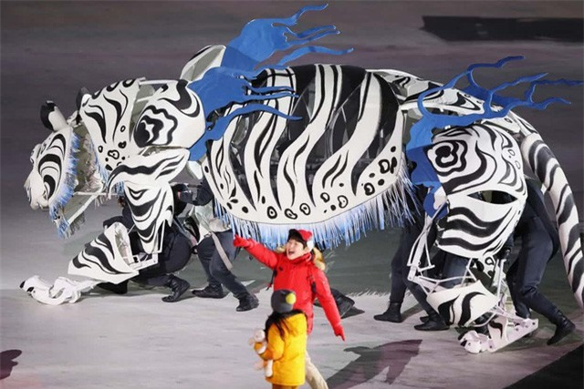 Bạch hổ, biểu tượng của nước chủ nhà Hàn Quốc ở Olympic mùa Đông 2018
