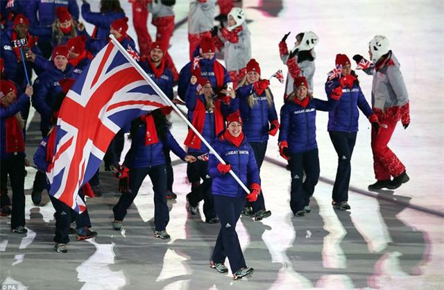 Màn diễu hành của đoàn thể thao Vương quốc Anh