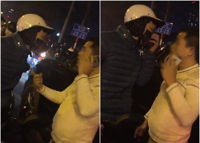 Nam thanh niên đi ô tô đâm cô gái ngã xe rồi lên giọng chửi bới gặp ngay soái ca xe máy dạy cho bài học - Ảnh 1.
