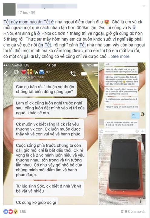 Ông chồng của năm: Để vợ con ăn Tết ở nhà ngoại cách 300km, người chồng còn gửi tặng mẹ vợ 1 chiếc smartphone mới toanh - Ảnh 2.