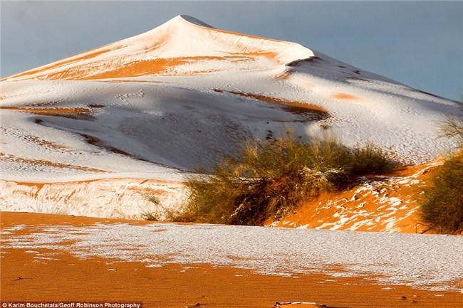 Tuyết phủ trắng nhiều vùng sa mạc Sahara lần thứ 3 trong 40 năm, có nơi dày 40cm khiến người dân kinh ngạc - Ảnh 4.