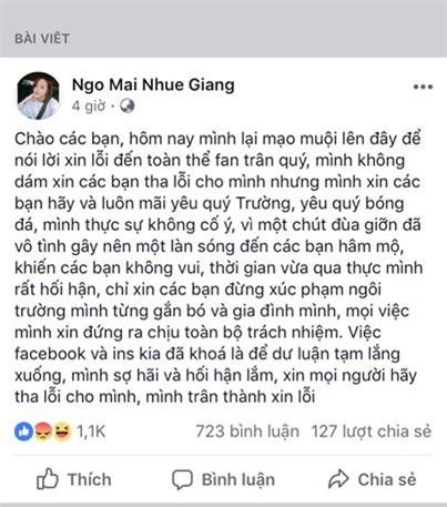 Chưa khiến fans nguôi giận, bạn gái Xuân Trường tiếp tục viết tâm thư dài xin lỗi-2