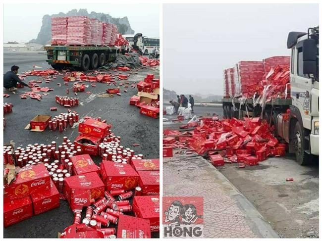 Ấm lòng: xe chở nước ngọt gặp nạn ở Ninh Bình, người dân không những không hôi của mà còn giúp đỡ. - Ảnh 1.