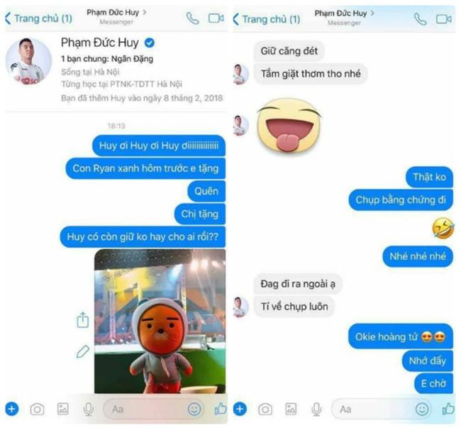 Bị nhắn tin truy hỏi tung tích quà tặng, câu trả lời của Đức Huy U23 khiến trái tim fans tan chảy-1