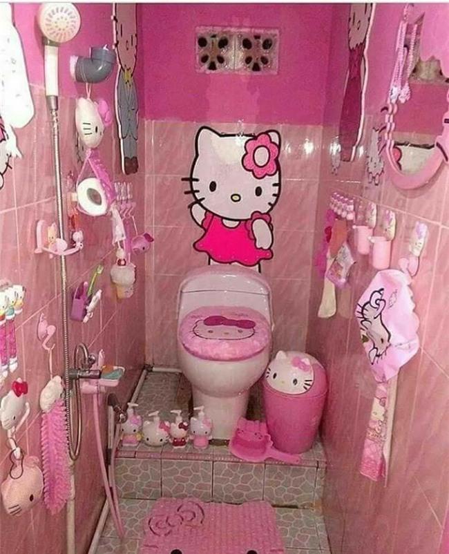 Ảnh hot nhất ngày: WC được trang trí từ A đến Z bằng hình tượng mèo Hello Kitty-2