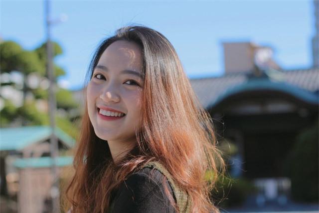 Gương mặt khả ái, nụ cười rạng rỡ tỏa nắng của Á khôi du học sinh Việt tại Nhật.