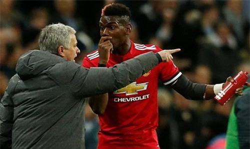 HLV Mourinho và Paul Pogba có những xung đột nhất định