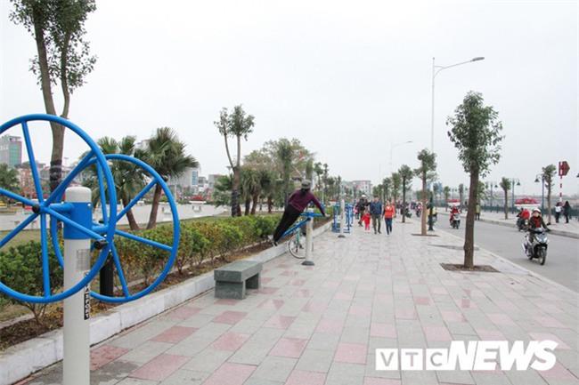 Cận cảnh công viên đẹp nhất Hải Phòng chưa hoàn thành bị cho là sai phạm - Ảnh 3.