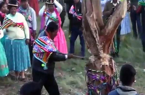 Tham gia lễ hội chặt cây, người đàn ông không may bỏ mạng oan uổng - Ảnh 2.