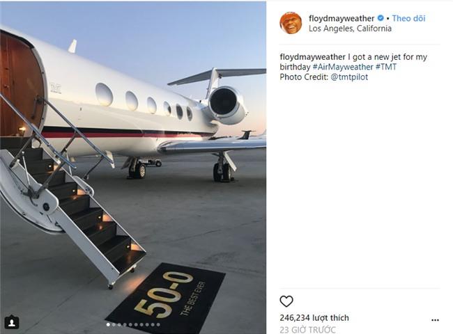 Sinh nhật tuổi 41, Floyd Mayweather tự tặng cho mình một chiếc... máy bay - Ảnh 3.