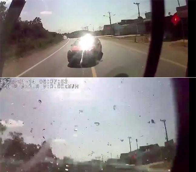 Thông tin mới về clip xe khách và ô tô con tông nhau như sấm sét