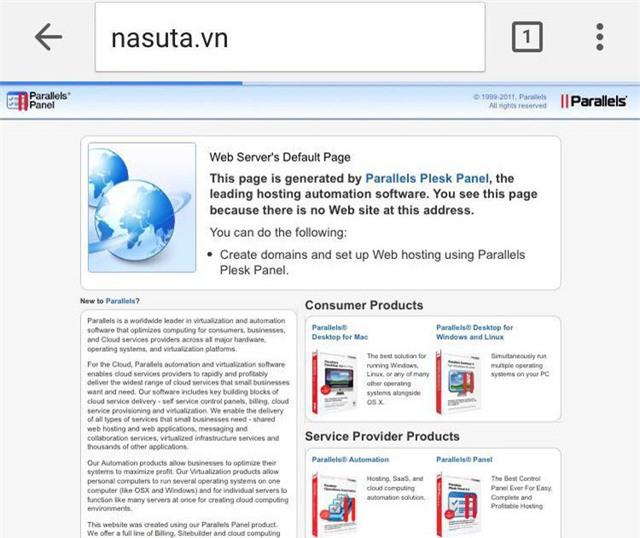 Tên miền trang chủ của Nasuta Việt Nam không còn hoạt động.