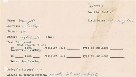 Đơn xin việc từ năm 1973 của Steve Jobs tiết lộ lý do vì sao ông có thể thành công trong lĩnh vực công nghệ đến vậy! - Ảnh 1.