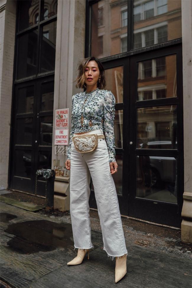 Diện quần âu và sơmi cách điệu đẹp như các quý cô châu Á trong street style đầu tháng 3 - Ảnh 14.
